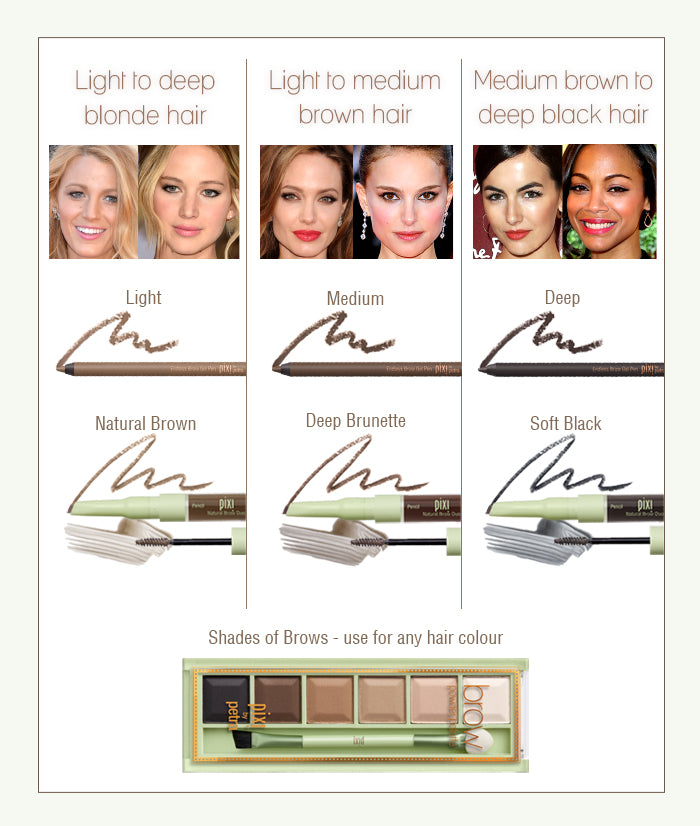 Find your brow shade!