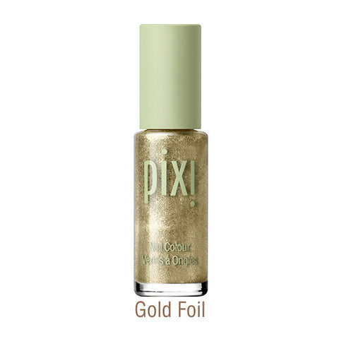 Nail Color Polish in Gold Foil
