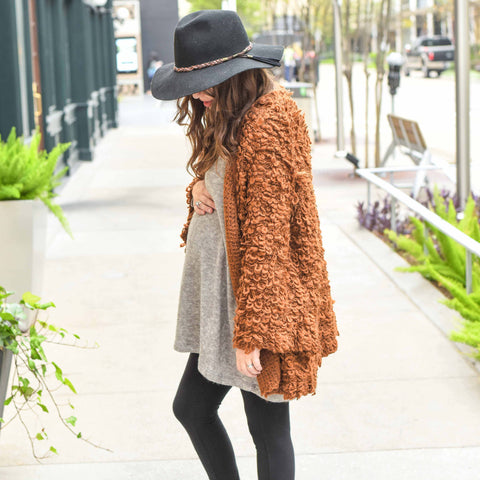 Lone Star Looking Glass guest blog maternity clothing boho style furry cardigan lonestarlookingglass