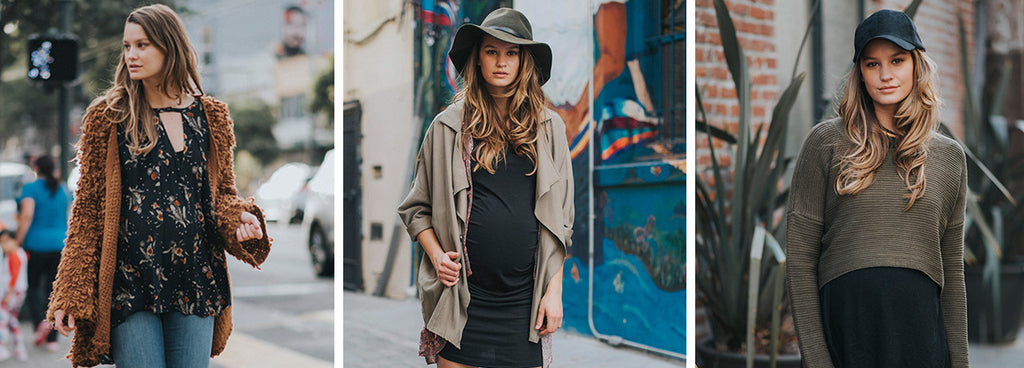 audrey and olive modern trendy maternity clothes