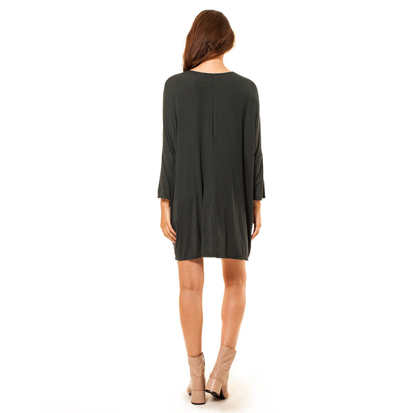 Dolman Sleeve T-Shirt Pocket Dress - maternity friendly