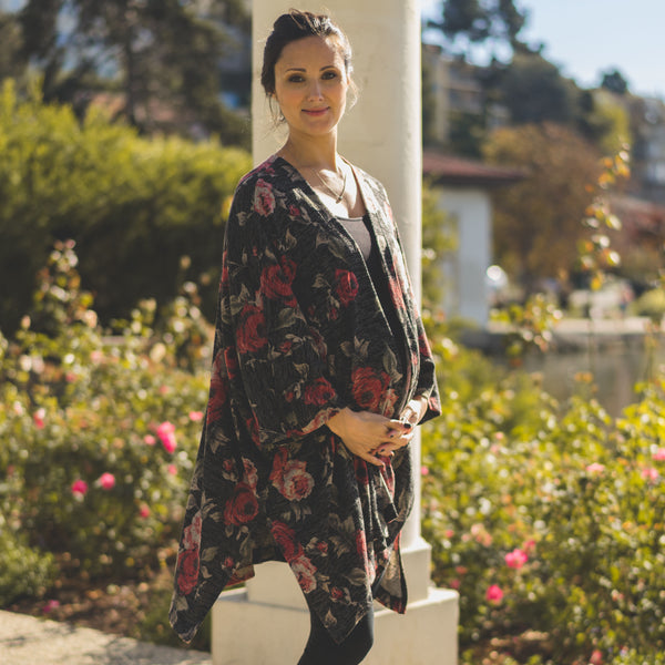 Rose Cardigan - maternity friendly