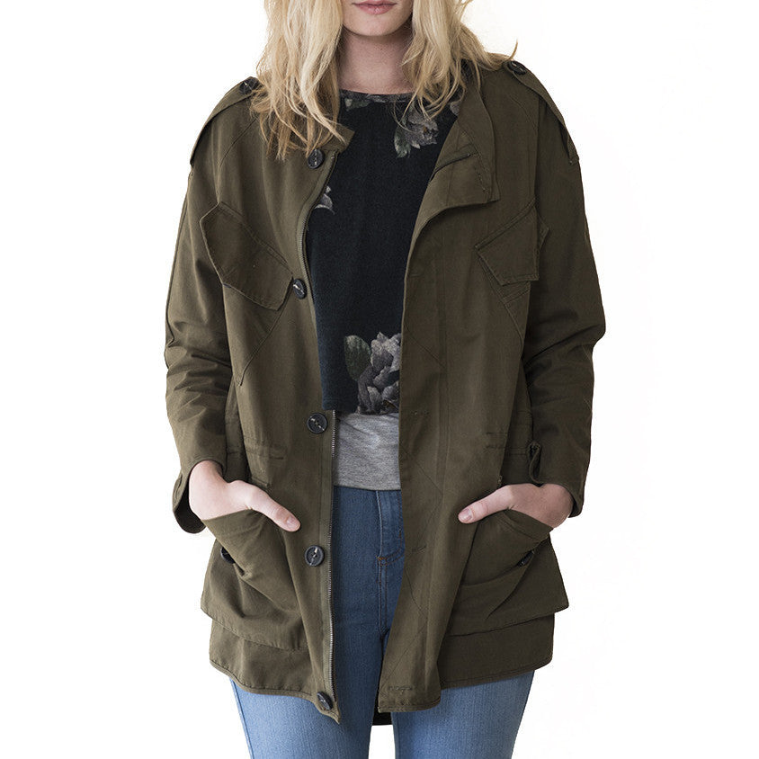 Rosewood Military Jacket - maternity friendly