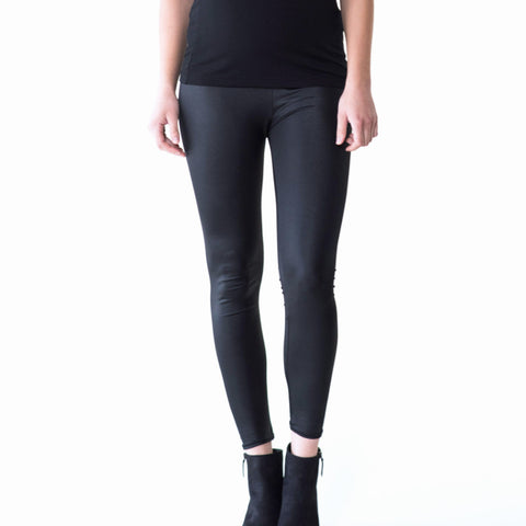 Maternity faux leather leggings by Audrey and Olive clothing