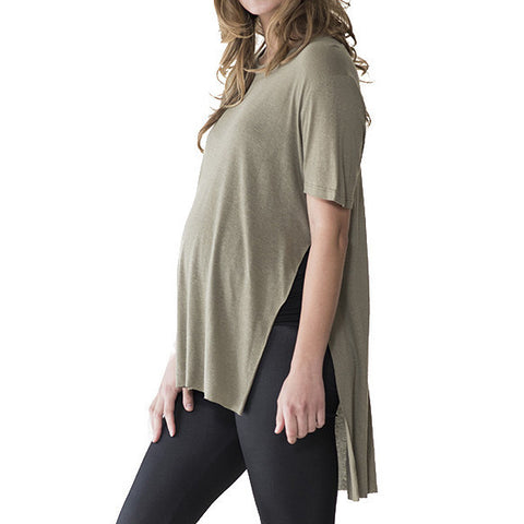 Audrey and Olive 3+1 maternity clothes emi side split tee t-shirt