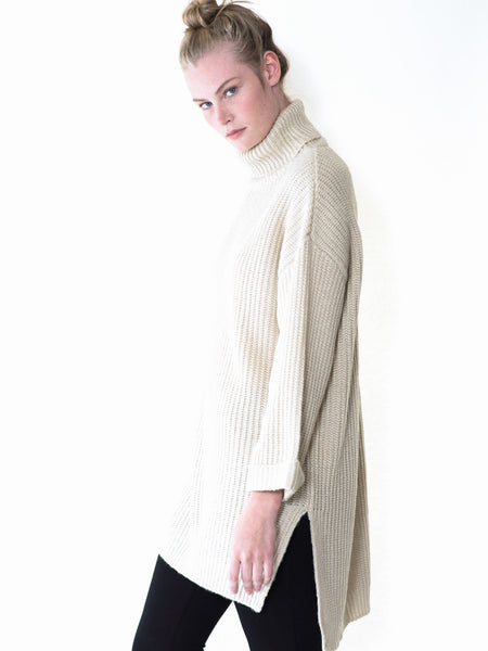 Sloane Chunky Turtleneck Knit Sweater - maternity friendly