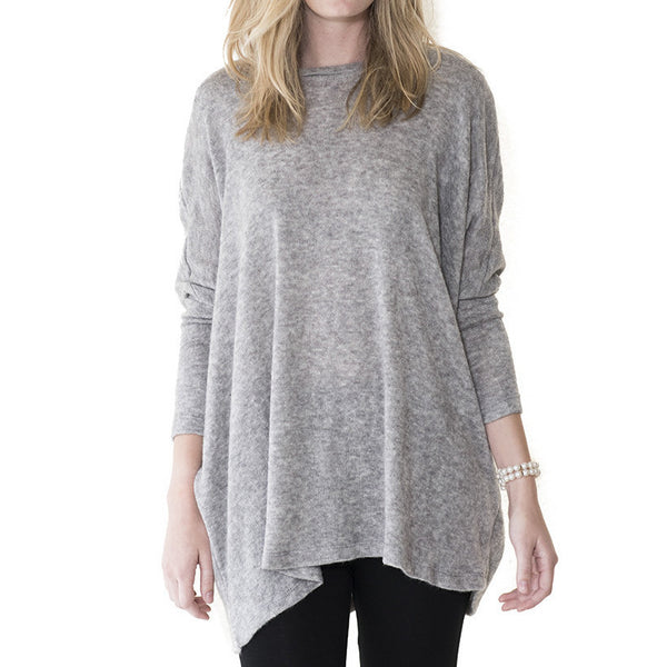 Audrey and Olive 3+1 maternity clothes angora dolman sleeve oversized sweater