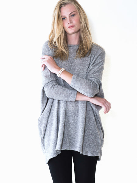 Maternity angora dolman sleeve oversized sweater by Audrey and Olive clothing