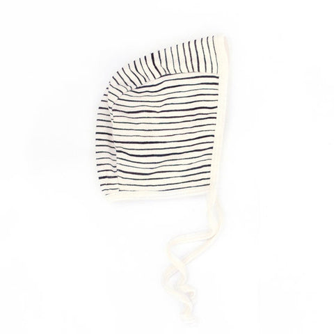 audrey and olive modern maternity clothes - petite soul stripe baby bonnet