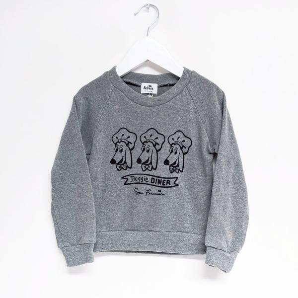 Kira kids sf doggy doggie diner sweatshirt kids baby babies audrey and olive maternity clothes shop the woods san francisco