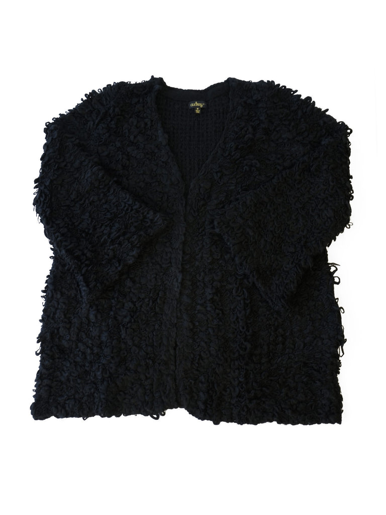 Furry Open Cardigan Sweater - maternity friendly