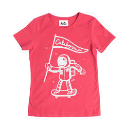 Kira kids red astronaut tee t-shirt kids baby babies audrey and olive maternity clothes shop the woods san francisco
