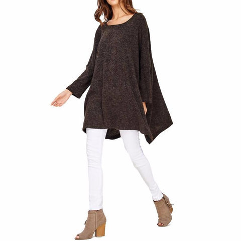 Audrey and Olive maternity Jessie oversized sweater charcoal grey