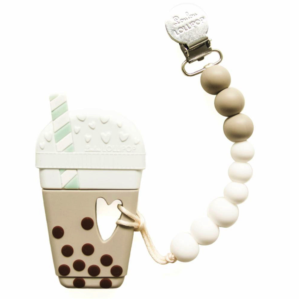 Loulou Lollipop silicone teether holder set boba classic bubble tea baby babies audrey and olive maternity clothes shop the woods san francisco