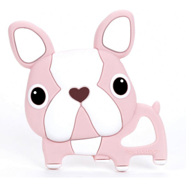 Loulou Lollipop silicone teether pink boston terrier french bulldog frenchie baby babies audrey and olive maternity clothes shop the woods san francisco