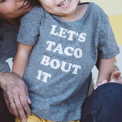 Kira kids lets taco bout it tee t-shirt mini me baby babies audrey and olive maternity clothes shop the woods san francisco