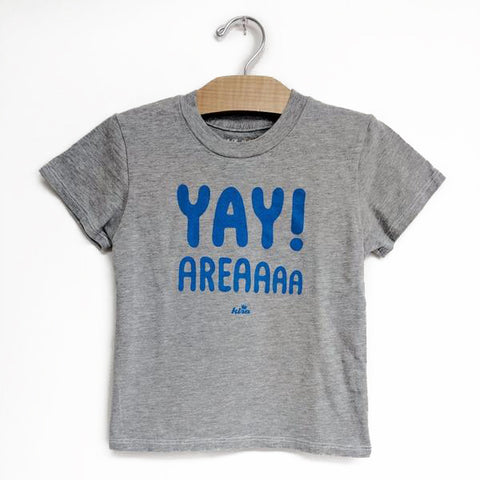 Kira Kids heather grey yay area tee t-shirt baby babies audrey and olive maternity clothes shop the woods san francisco