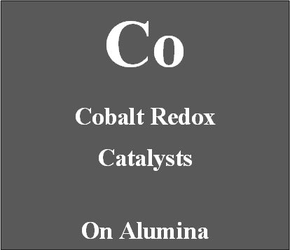 Cobalt redox catalyst supported on Alumina