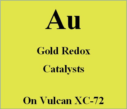 Gold Redox Catalysts on Vulcan XC72 carbon for batteries and electrochemical sensors