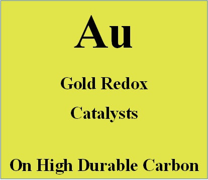 Gold redox catalyst on high durable carbon
