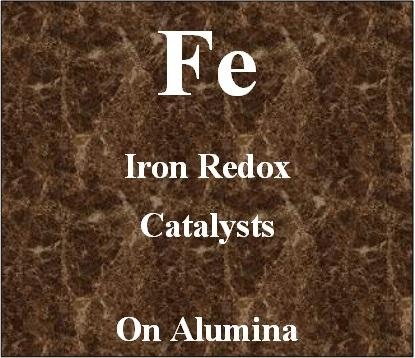 Iron redox catalyst on alumina