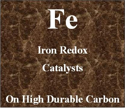 Iron Redox Catalysts on high durable carbon for Metal Air batteries