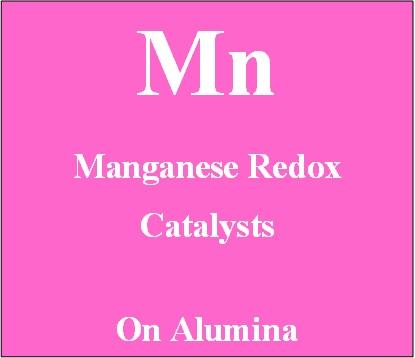 Manganese redox catalyst on alumina