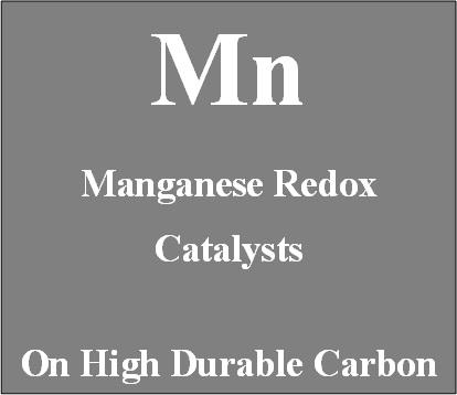 Manganese Redox Catalysts on high durable carbon for Metal Air batteries