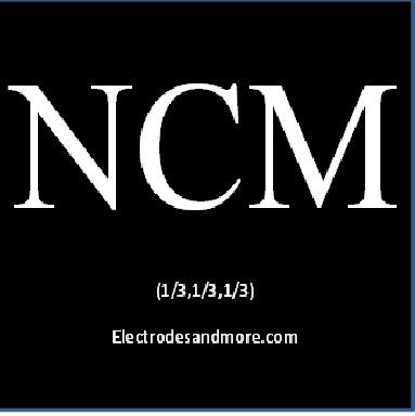 Lithium Nickel Cobalt Manganese Oxide Electrode 1/3rd (NCM) cathode on Al Single Sided