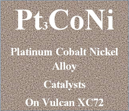 Platinum Cobalt Nickel Alloy Ternary Electro Catalysts Pt-Co-Ni on Vulcan XC72 Carbon