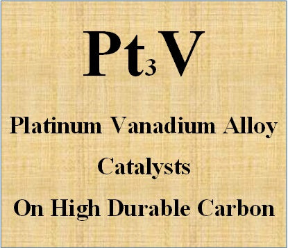 Platinum vanadium alloy catalyst on high durable carbon