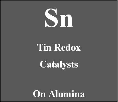 Tin redox catalyst on alumina