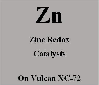 Zinc Redox Catalysts on Vulcan XC72 carbon for Metal Air batteries