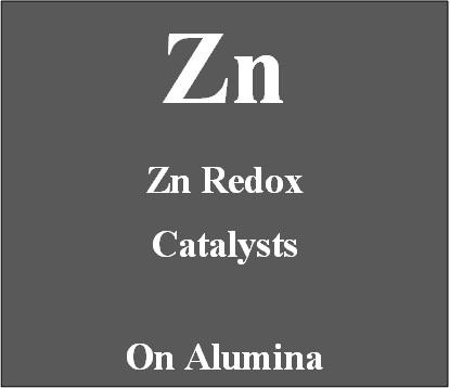 Zinc redox catalyst supported on Alumina