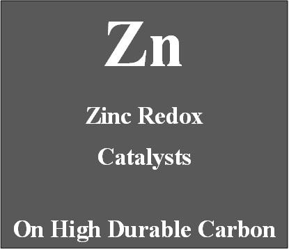 Zinc Redox Catalysts on high durable carbon for Metal Air batteries