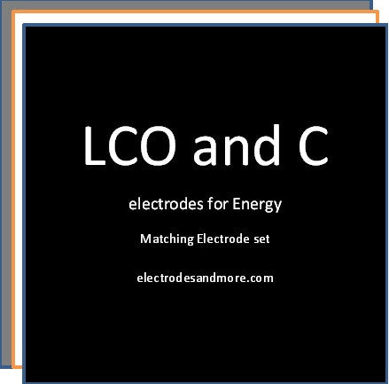 Matched Electrode set LCO cathode for Energy and C anode Single sided
