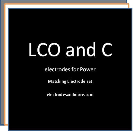 Matched Electrode set LCO cathode for Power and C anode Single sided