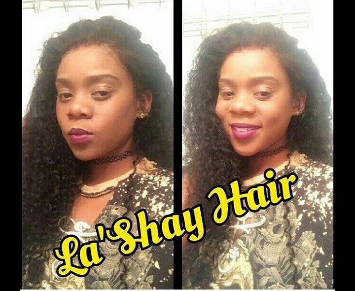 "Virgin Indian Curly 22"" 24"" 26""/ 16"" Lace Frontal"