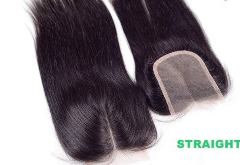 Middle Part Lace Closure Virgin Brazilian Straight