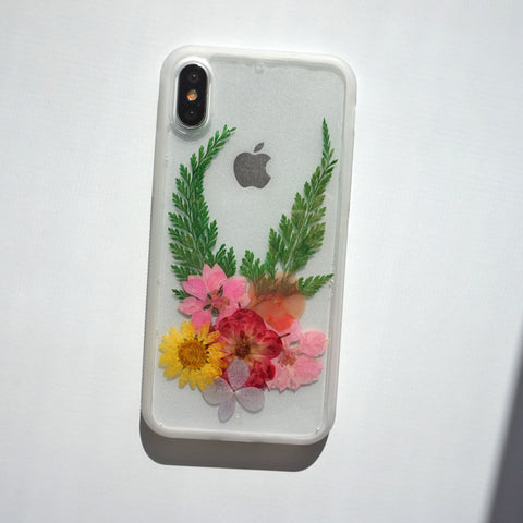 Real Flowers Phone Case with Soft Spocket App