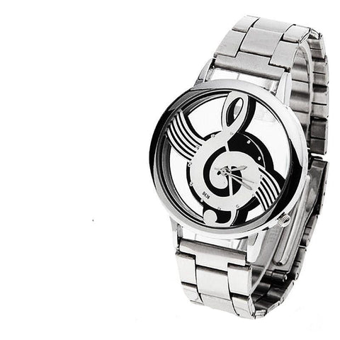 Fashion and Casual Music Note Notation Watch Stainless Steel