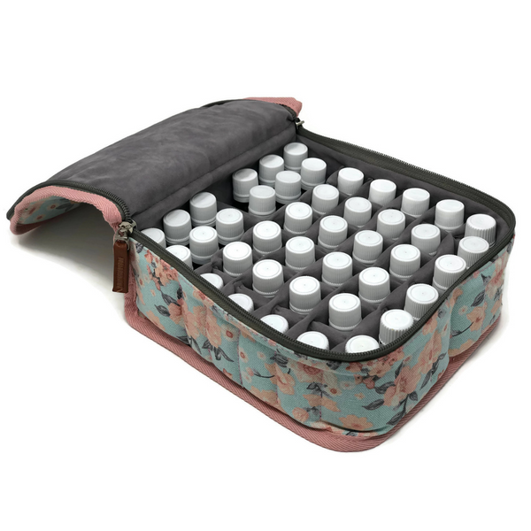 42-Bottle Essential Oil Carrying Case with Velvet Interior