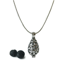 Essential Oil Aromatherapy Diffuser Locket Necklace (Teardrop)