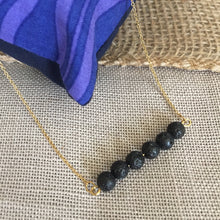 Essential Oil Diffuser Necklace Jewelry with Lava Rock Beaded Stone for Aromatherapy