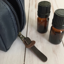 Men's 10-Bottle Essential Oil Carrying Case (5ml, 10ml, 15ml) for Travel or Storage
