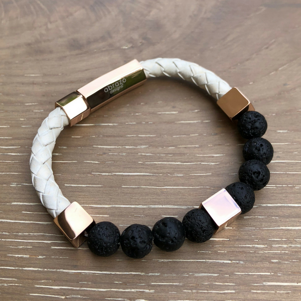 Women's Lava & Leather Diffuser Bracelet (Small)