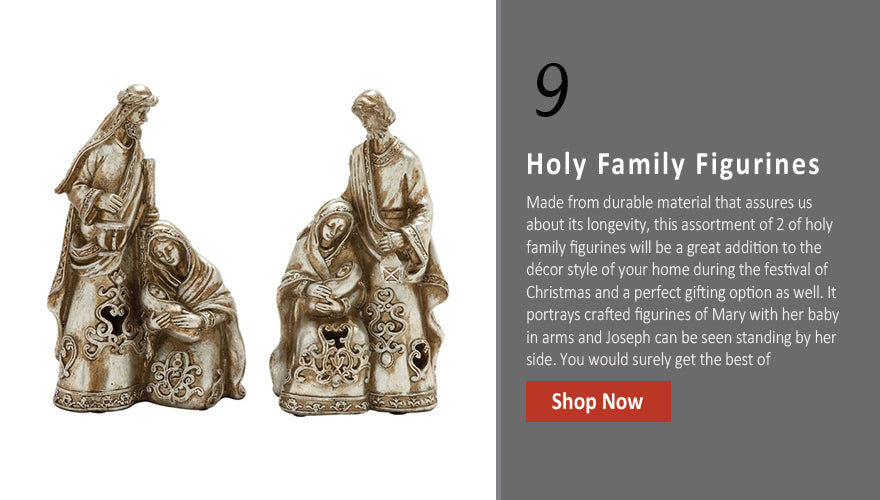 Marvelous 2 Assorted Holy Family Figurines
