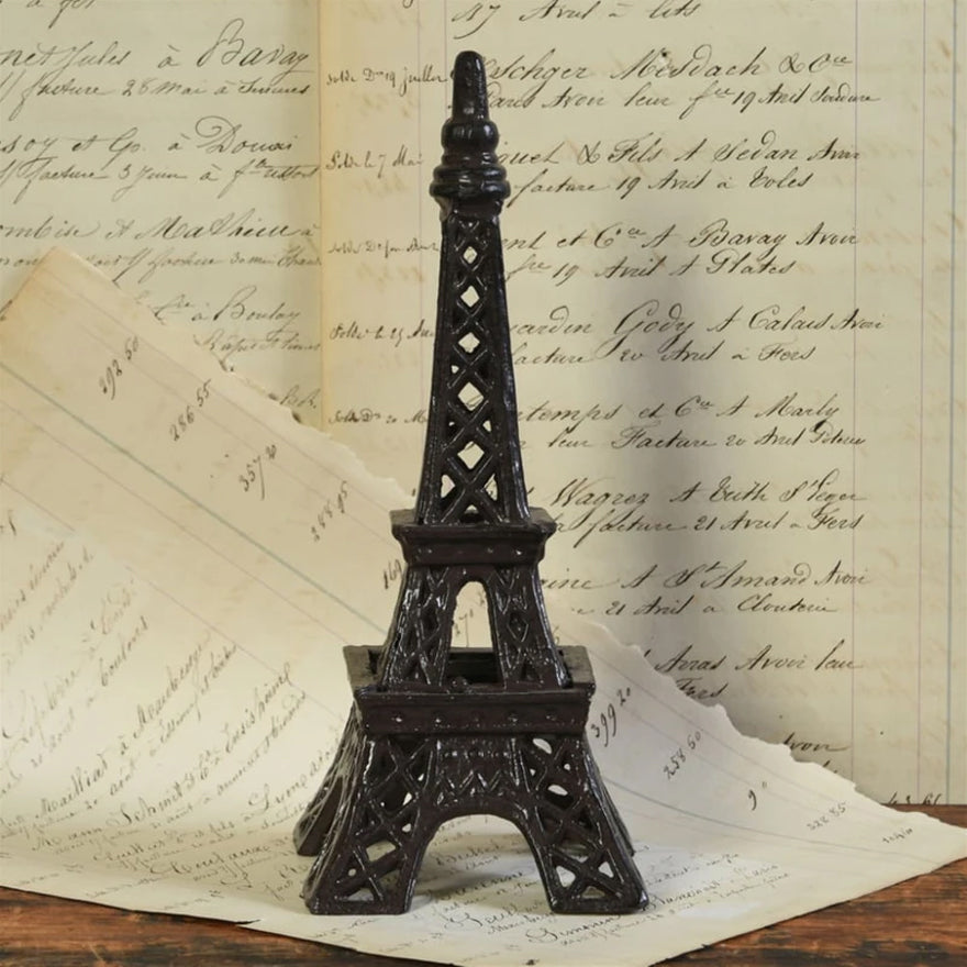 Cast Iron Eiffel Tower Accent Decor with Cutouts
