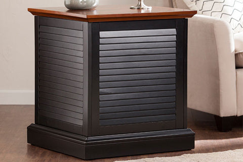 Louvered Trunk End Table