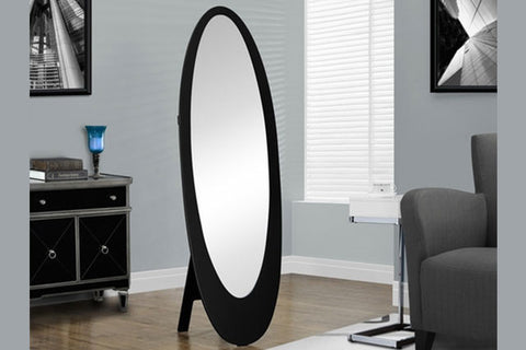 Contemporary Oval cheval mirror